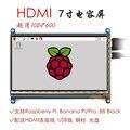 Pantalla táctil de 7 pulgadas Raspberry pi 1024*600 pantalla táctil capacitiva de 7 pulgadas LCD, interfaz HDMI, apoya diversos sistemas