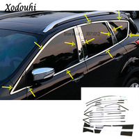 Hot for Ford Kuga 2013 2014 2015 2016 body cover stick stainless steel garnish pillar window middle strip trim frame moulding
