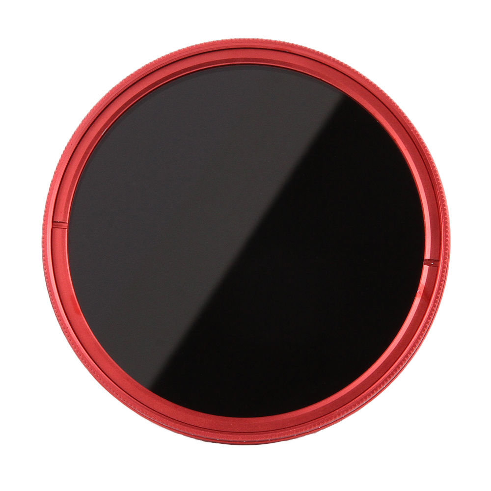 FOTGA 67mm Variable Fader ND Lens Filter ND2 to ND400 ND100 ND32 ND16 ND8 ND4 Neutral Density Red