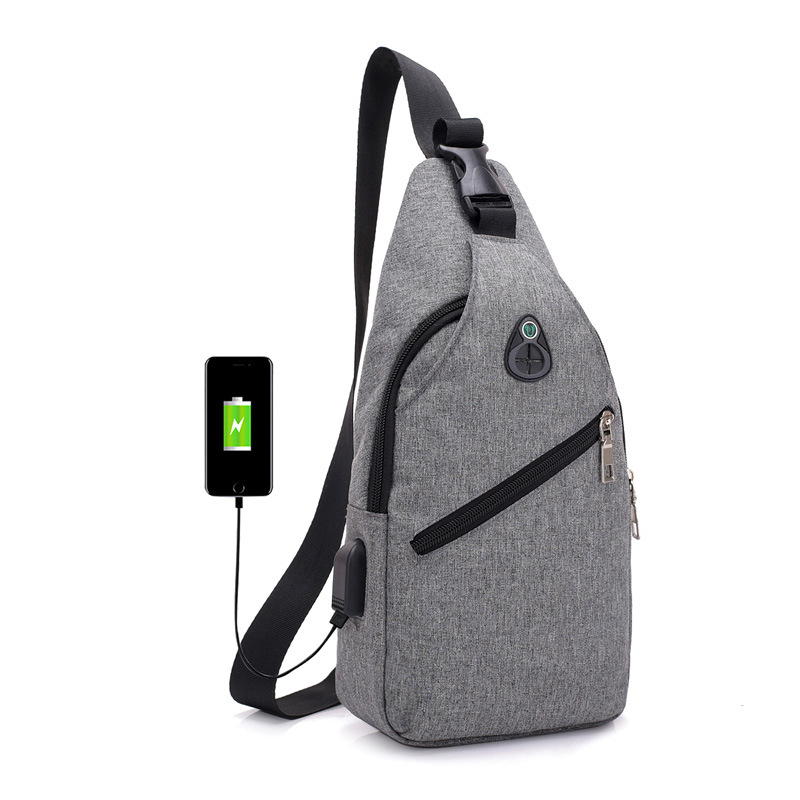 2018 Men's chest bag Leisure travel men USB
