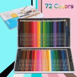 Fine Art 72 núcleos Lapis de cor Lápis de cor Lápis de cor Profissional 72 Lapis Artista Lápis Esboço Do Lápis Atacado