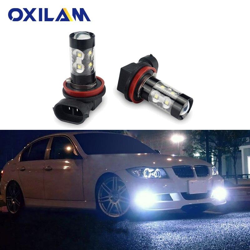 2x H11 LED H8 Fog Light Bulb for BMW E39 F10 X5 E53 E70 E46 E36