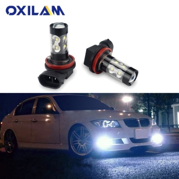 2x H11 LED H8 Fog Light Bulb for BMW E39 F10 X5 E53 E70 E46 E36 E90 E60 F30 E34 E87 E92 E38 X3 Car Driving Lamp DRL H3 HB4 9006 image