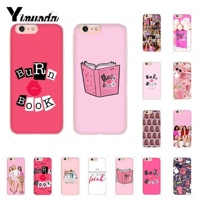 Yinuoda Burn Book Mean Girls Bacio Coque Borsette Cassa Del Telefono per il iphone 8 7 6 6S Plus X XS MAX 5 5S SE XR 10 Della Copertura