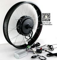 Fat Bike 48 В в 1500 Вт Электрический велосипед Conversion Kit заднее колесо двигатель без батарея DIY запчасти