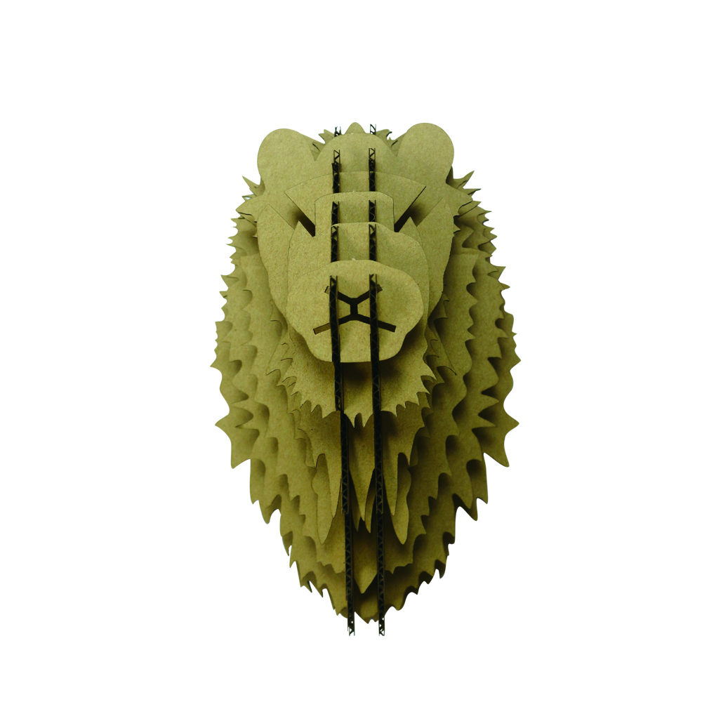 ФОТО 3D Lion Head Animal Model Paper Jigsaw Puzzle Paper Craft DIY Handmade Nice Ornament Home Store Office Wall Decoration Gifts