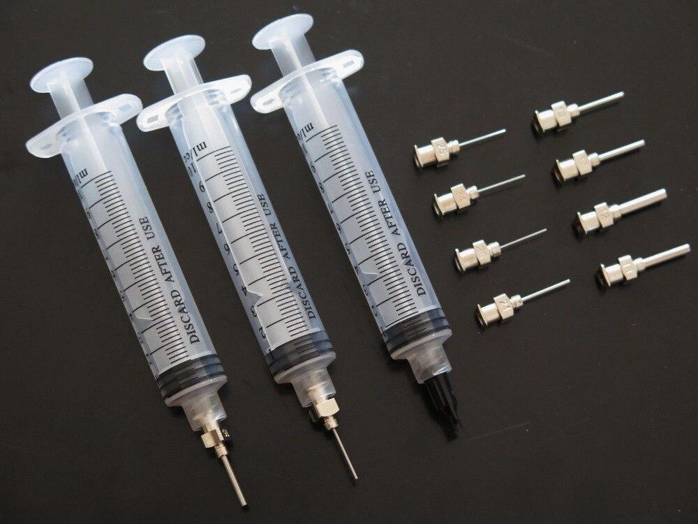 10CC Syringe  Solder Paste Adhesive Glue Liquid Dispenser new liquid dispenser solder paste adhesive glue syringe dispensing needle tip