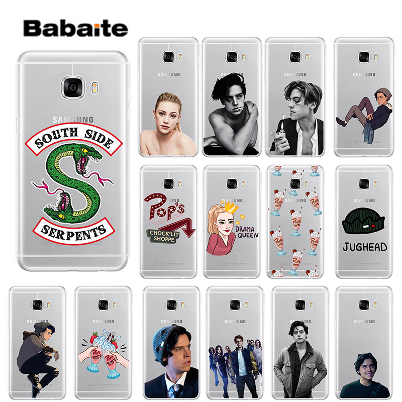 Babaite <font><b>Riverdale</b></font> South Side Serpents Novelty Fundas Phone <font><b>Case</b></font> Cover for <font><b>Samsung</b></font> S5 S6 S6 edge Plus S7 <font><b>S8</b></font> S8plus S9 S9plus image