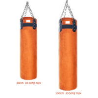 Suede Leather Sandbag 80 100cm High Class Punching Bag Kick Boxing Bag For Kids Home Training