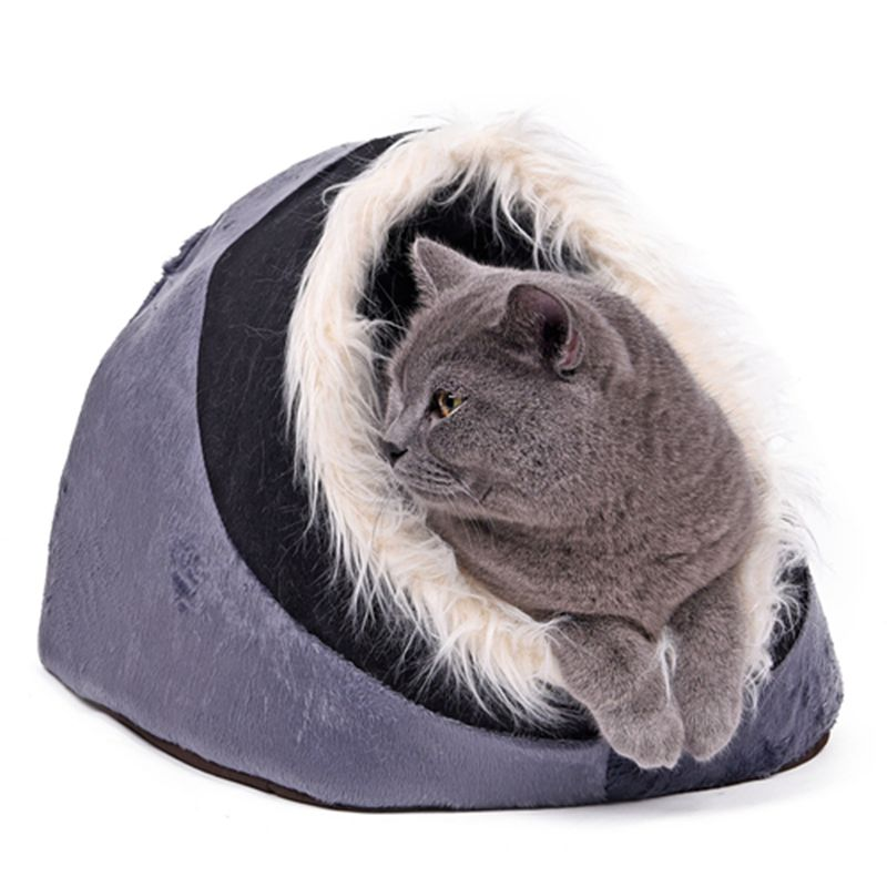 Super Warm Cat Cave Bed Rumah Anjing Puppy Kennel Shelter untuk Kitty - Produk hewan peliharaan - Foto 5