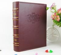 Pu Leather Vintage Photo Album for 200 Photos of 6 Inch 4D Family /Wedding / Graduation /birthday Gift Photo Album