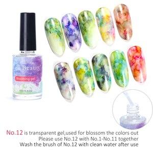 Image 4 - 12 Bottle Gel Nail Polish Blooming Flowers Watercolor Smoke Ink Gel  Gradient Marble Painting Varnish Nail Designs Set TR895 1