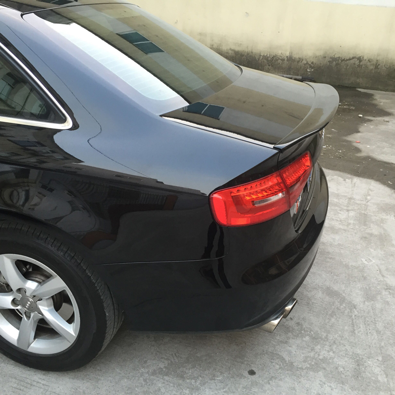 A4 B9 Modified Caractere Style Fiberglass Primer Rear Trunk Lip Spoiler Car Wing for Audi A4 B9 2013 2014 2015 цены