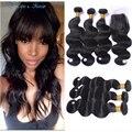 Peruvian Virgin Hair With Closure Ali Moda Peruvian Body Wave With Closure 4 bundles with closure Peruvian Virgin Hair Body Wave