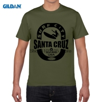 GILDAN Designer T Shirt Men S T Shirt Clothing Santa Cruz Surfings Printing Men S Round