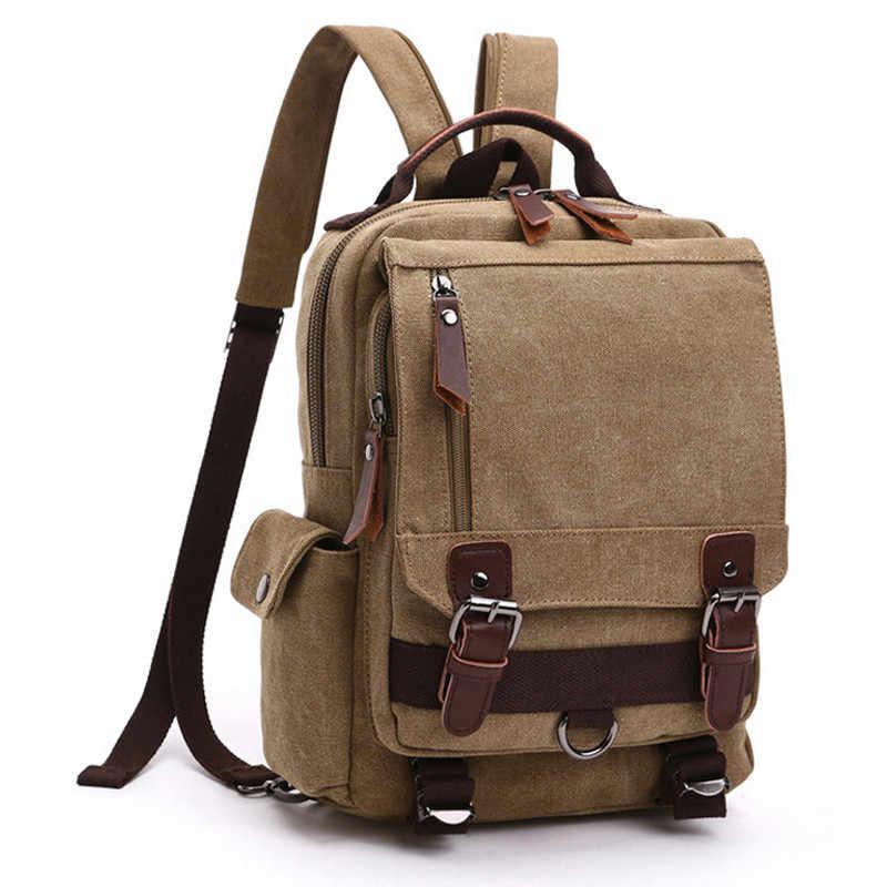 Fashion Men Bag Canvas Backpacks Women  Backpack Men Shoulder Bag Canvas School Backpack Tote Casual Weekend Bags Wholesale