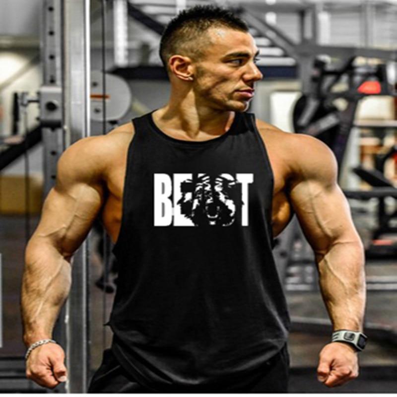 wdjugz. musculation vest bodybuilding clothing and fitness men undershirt solid   tank     tops   blank golds men undershirt