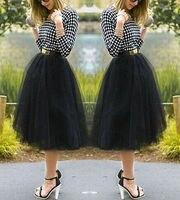 Women S Tutu Tulle A Line Skirts Short Prom Party Knee Length Petticoat Dress