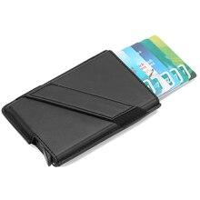 2019 New Metal Card Holder RFID Aluminium Alloy Credit Card Holder PU Leather Wallet Antitheft Men Automatic Pop Up RFID Wallet цена и фото
