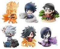 6pcs Set PVC 6cm Cute Naruto Anime Action Figures Children Toys Collection Naruto Gaara Sasuke Model