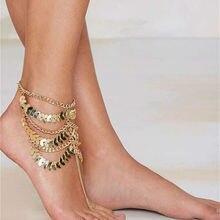 FREE SHIPPING New Style B608 Women Gold Leaf Chains Tassel F