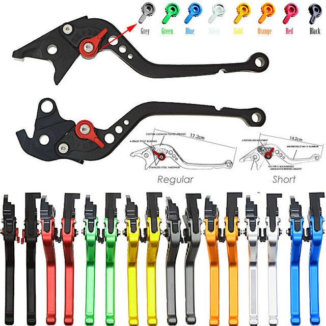 Corto y largo para Hyosung GT250R 2006 2007 2008-2010 GT650R 2006-2009 GT250 GT650 R motocicleta ajustable CNC freno embrague palancas