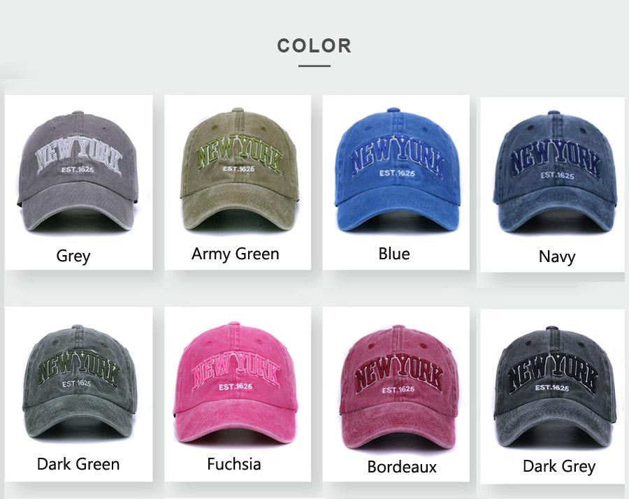 HATLANDER Sand washed 100% cotton baseball cap hat for women men ... d2c58c911436