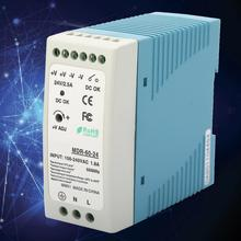 60W DC 24V Single Output Industrial DIN Rail Power Supply MDR-60-24 Low Output Ripple And Noise only 11 11 mean well mdr 60 12 12v 5a meanwell mdr 60 60w single output industrial din rail power supply [hot1]