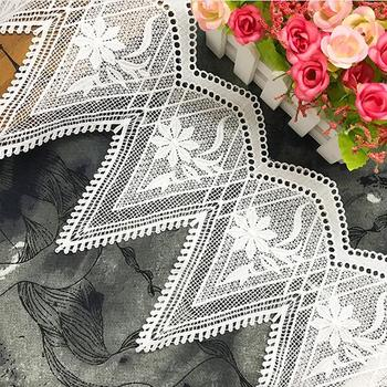15Yards White Lace Trim DIY Handmade Clothing Dress Accessories Materials High Quality Water Soluble Milk Silk Embroidery Fabric