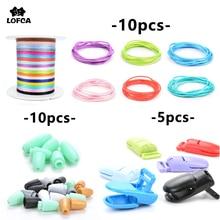 Детские Прорезыватели, соска, клипса, цепь, аксессуары, красочный нейлоновый шнур, пластиковые Отрывные застежки для прорезывания зубов, ожерелье, безопасное изготовление