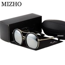 MIZHO Vidrio Luxury Solarized Somen Exquisite 2019 Polarized Sunglasses Women Round UVA Polaroid Sunglass Original Brand Design