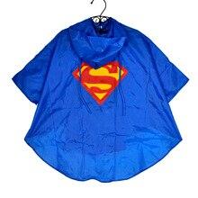 Kid Raincoat Clothes Waterproof Super heroes Kids Rain Coat Child Superman Batman Superhero Rainwear Rainsuit Cloth