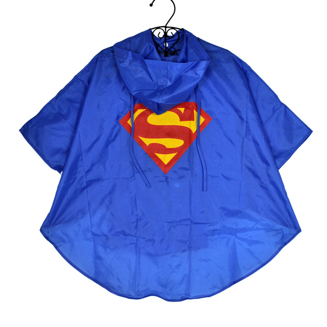 Kid Raincoat Clothes Waterproof Super heroes Kids Rain Coat Child Superman Batman Superhero Rainwear Rainsuit Cloth for Children