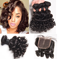 8A Peruvian Big Curly Hair Weave Bob Hair Short  Bob Funmmi Hair New Style  Body Wave 3Bundle With Closure rosa hair product