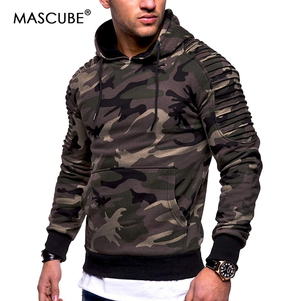Mascube Trend Camouflage Hoodies Mens Units Thick Garments Winter Sweatshirts Hip Hop Streetwear Strong Fleece Hoody Man Clothes