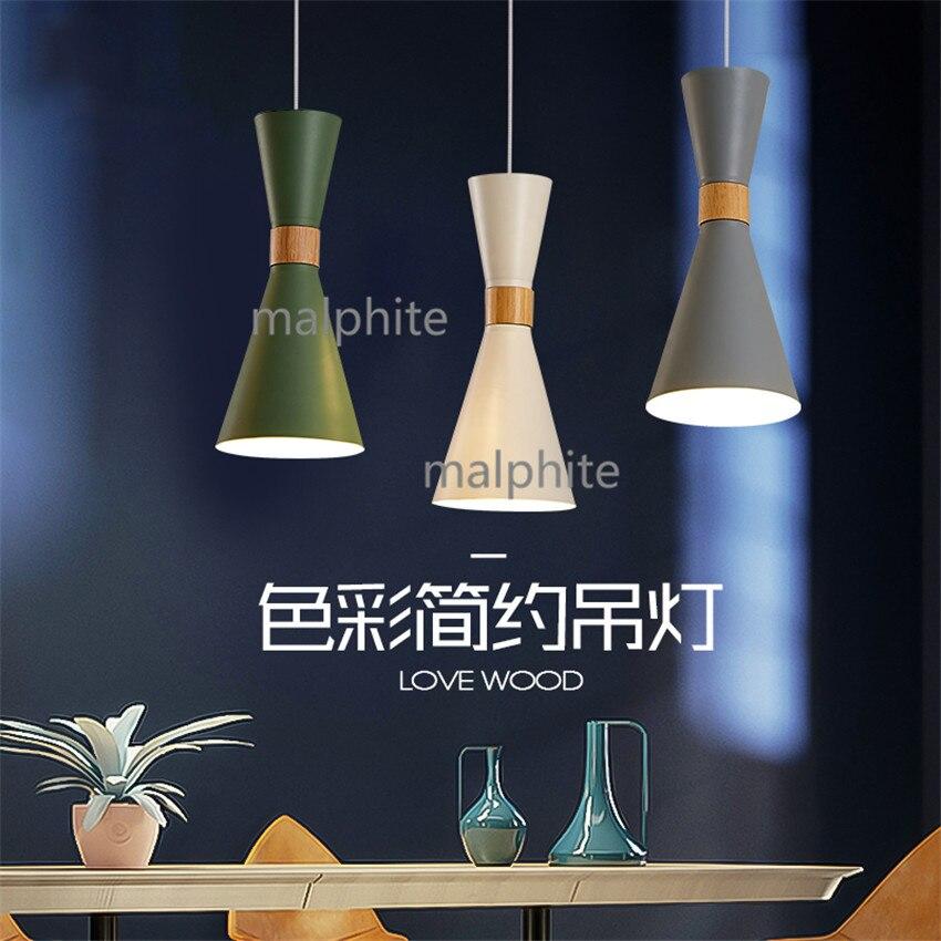 Nordic Iron LED Pendant Lamp Living Room Bedroom Personality Pendant Lights Lighting Coffee Loft Simple Home Decor Hanging Lamp
