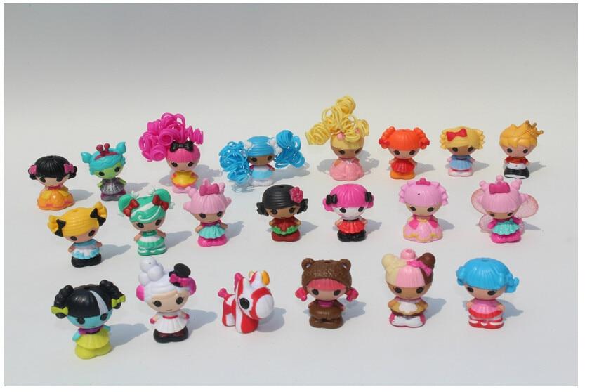 2015 New Arrival 16 Pcs Set Mga Mini Lalaloopsy Doll Toys