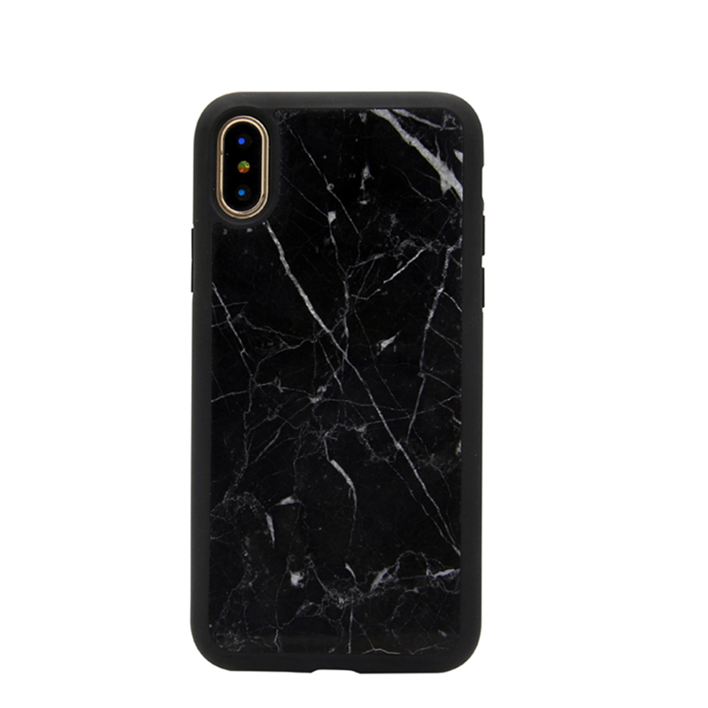 Luxury Design Genuine Naural Marble Case TPU Cover for iPhone X