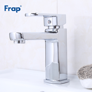Image 2 - Frap Basin Faucets Chrome Stainless Steel Bathroom Basin Faucet Tap Sink Mixer Faucet Vanity Hot and Cold Water Brass Tapware