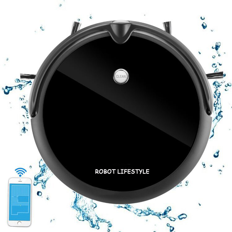 Robot Vacuum Cleaner With HD Camera Monitor,Map Navigation,Smart Memory,Wet And Dry,Video Call,350ML Water Tank