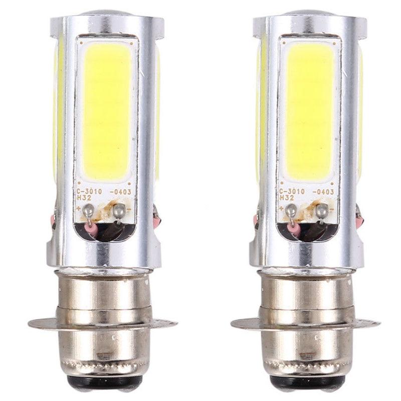 JX-LCLYL 2pcs H6M PX15d COB LED Motorcycle ATV Headlight Fog Light Bulb 6000K White