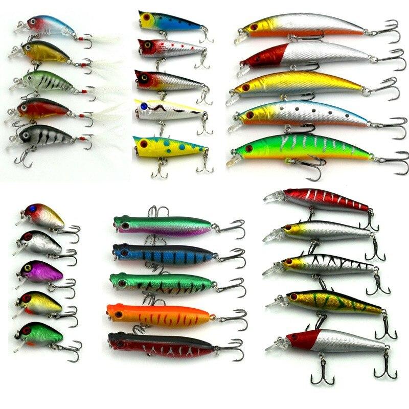 HENGJIA 30pcs fishing lure set Mixed models fishing bait ...
