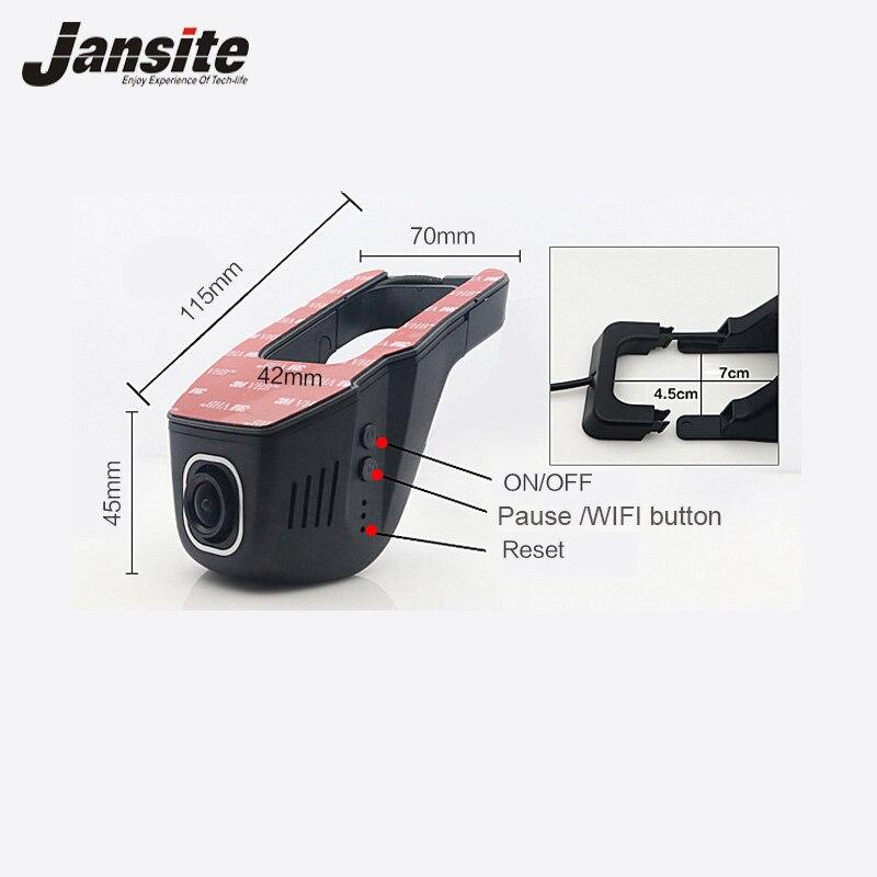 Car DVR Mini Wifi Cámara Full HD 1080 p Dash Cam Registrator Video del vehículo de la videocámara Dvr de la lente Dual app Control