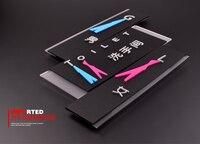 3 יח'\חבילה אסלת חדר כביסת חדר מנוחה באיכות גבוהה אקריליק 3D עיצוב יצירתי מחוון צלחת סימן צלחות דלת 33X12 ס