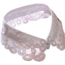 Women Girls Fake False Collar Detachable Lapel Shirt Peter Pan Choker Necklace RT5