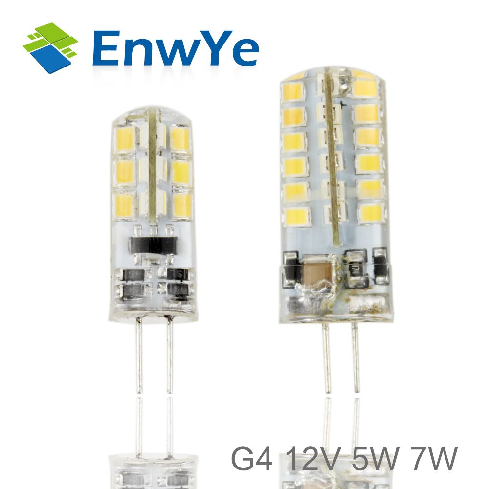 G4 LED 12V 5W 7W AC/DC Led Lamp LED Bulb 2835SMD 24LED 48LED Lamp 360 Beam Angle LED Spot Light Warranty Crystal Lamp Light