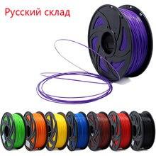 Stampante 3D 1KG 1.75mm PLA filamento materiali di stampa colorati per stampante 3D estrusore penna arcobaleno accessori in plastica rosso grigio