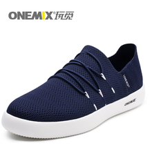 ONEMIX Men Lightweight Casual Shoes Slip-on Breathable Mesh Upper Sneakers For Women zapatillas hombre