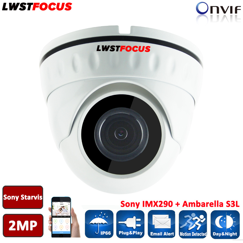 Sony Starvis 2MP IP Camera POE ONVIF 1080P H.264/265 HD Lens Security Room Dome Support Phone Android IOS P2P Camera Seguranca h 264 mini dome ip camera 1080p hd security indoor cctv camera 2mp 1920 1080 ir cut onvif p2p support phone android ios view