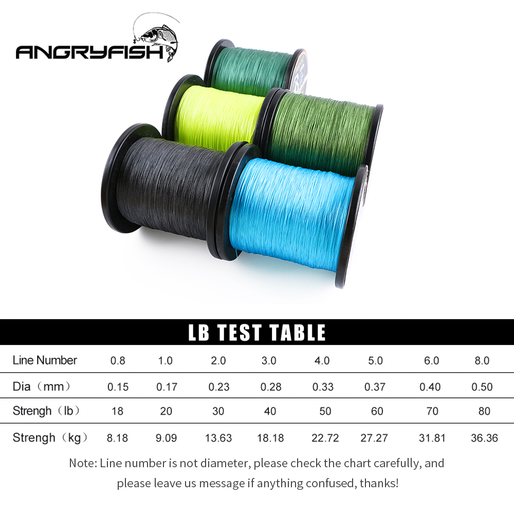 Image 3 - Angryfish Wholesale 1000Meters 8x Braided Fishing Line 8 Colors Super PE Line-in Fishing Lines from Sports & Entertainment
